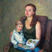 Портрет Натальи Николаевны с сыном.